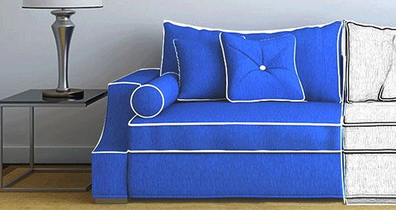 2 steps to achieve automated cutting of fabrics for upholstered furniture