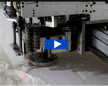 Multilayer-fabric-cutting-machine