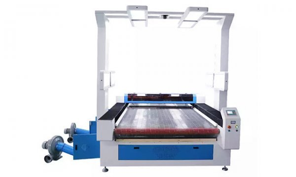 large format visual laser cutting machine for sublimation printing garment