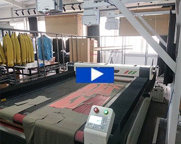 MTM clothing fabric cutting: Laser fabric cutting machine for strip and plaid fabric cutting