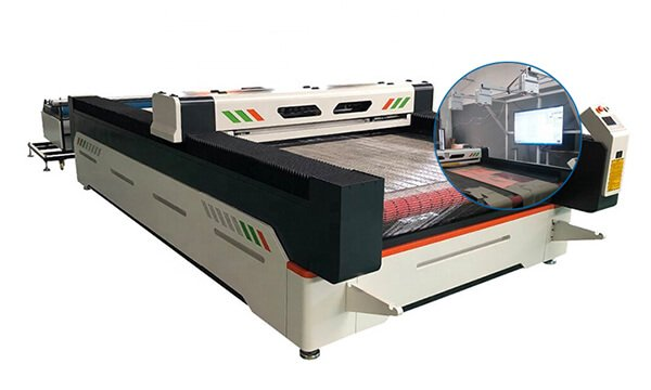 Laser pattern textile cutting machine with the intelligent optical systems