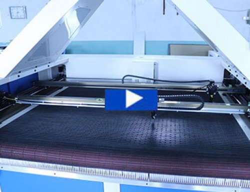 CCD camera laser cutting machine with double laser head