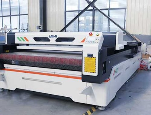 AMOR1630 laser fabric cutting machine sent to South America (New Model)