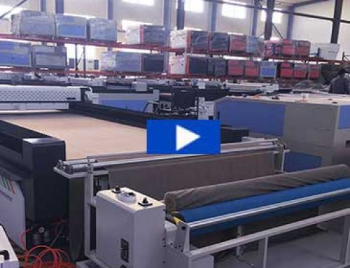 Fabric laser cutting machine with auto feeder for sofa fabric cutting