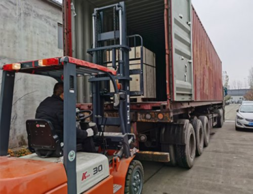Shipment of laser marking machine in 40-foot container